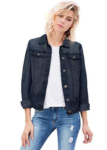 Women Junior Classic 4 Pockets Denim Jacket JK175591 Medium was M