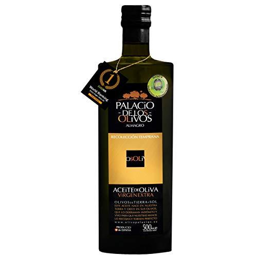 Palacio de Los Olivos Extra Virgin Olive Oil, Cold Pressed, Picual Variety, 500ml Bottle, International Award Winner…