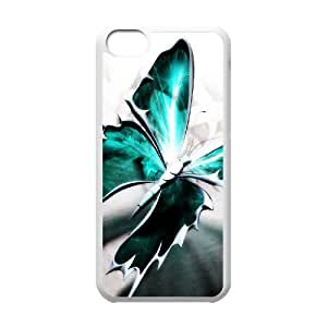 WJHSSB Print Butterfly Pattern PC Hard Case for iPhone 5C