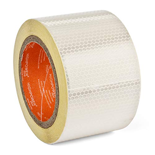 "3"" X 50 ft Reflective Safety Tape Solas Approved White - Reflector Tape High Intensity Grade Marine Trailer Trucks Auto Reflectors -Typhon East"