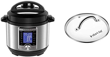 Instant Pot Ultra 3 Qt 10-in-1 Multi- Use Programmable Pressure Cooker, Silver & Genuine Instant Pot Tempered Glass Lid, Clear 7.6 Inch, Mini 3 Quart