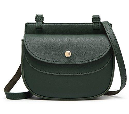 HopeEye Femmes Tendances de la mode Cuir Pu Mme sac à bandoulière(gzaspunb13-4-Green) 4-vert