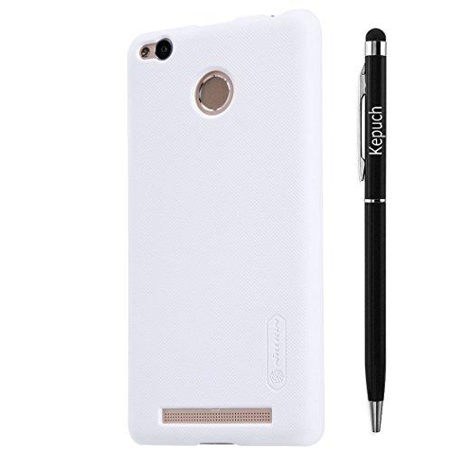 Kepuch XiaoMi Redmi3 PRO Wearproof Case - Ultra-thin Super Scrub Shield Shell Hard Case Cover with Screen Protector For XiaoMi Redmi3 PRO - White