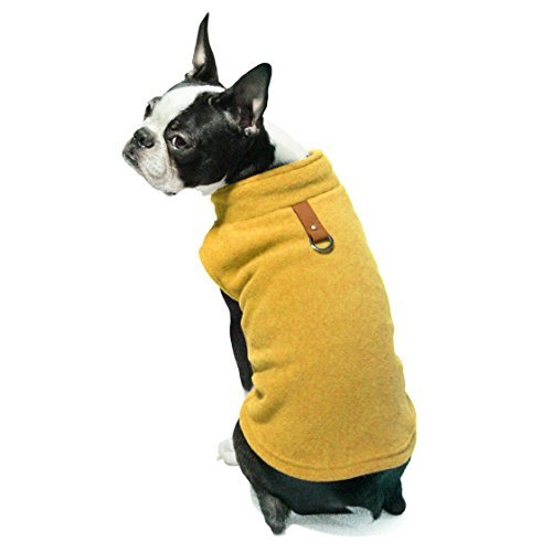 Gooby Every Day Fleece Cold Weather Dog Vest for Small Dogs, Honey Mustard, Medium