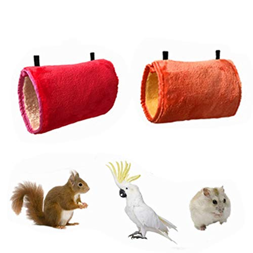(Toy for Parrot Bird Hammock - Winter Warm Bird Nest House Hamster Hanging Tunnel Hammock Bed Tube for Hamsters, Parrots, Dutch Pigs, Kittens, Chinchillas (Random))