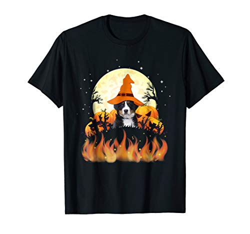 Funny Bernese Mountain Dog Lovers T-Shirt Halloween -