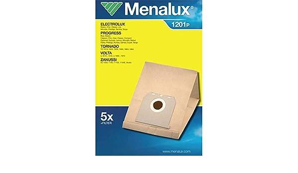 Bolsas de papel Aspirador Electrolux/Menalux (1201p): Amazon.es: Hogar
