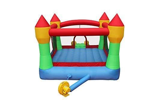 BestParty Inflatable Bounce House Castle Jumper Moonwalk Slide Inflatable Jumping Bouncy House with Blower by BestParty (Image #5)
