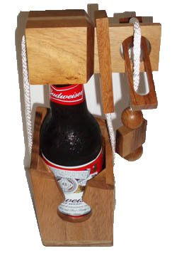 Creative Crafthouse Wood Brain Teaser Puzzles Beer Bottle Puzzle