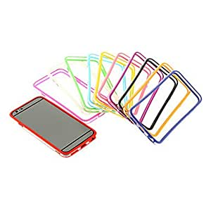 Mini - Solid Color TPU Bumper Frame for iPhone 6 , Color-Pink