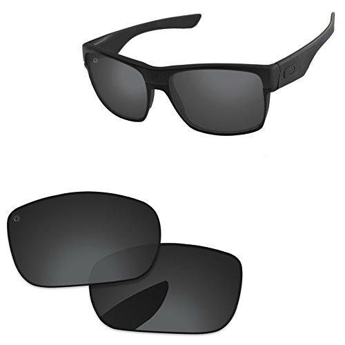 5f4efa015c PapaViva Replacement Lenses for Oakley TwoFace Pro+ Black Grey Polarized