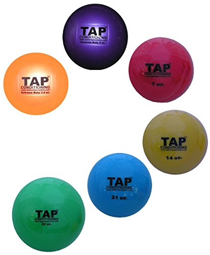 TAP Extreme Duty Weighted Ball Set | Soft-Shelled Weighted Plyometric (Plyo) Balls used for Throwing and ()