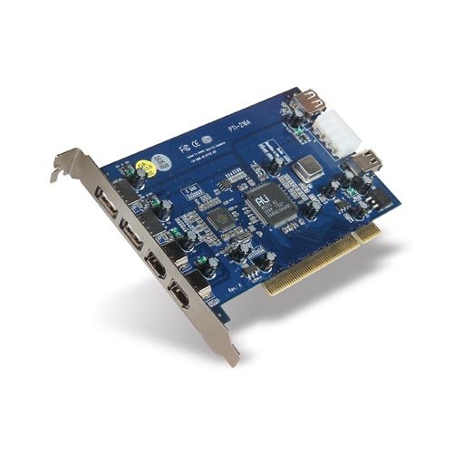 6PORT Combo USB 2.0/FIREWIRE Pci Card 3USB 3FW for Pc