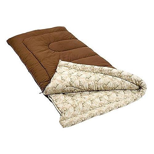 Coleman Autumn Trails 30 Degree Sleeping Bag Standard Brown And Deer Print