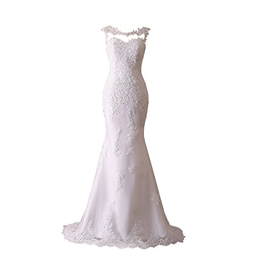 JinXuanYa Woman's New Noble Sweetheart Beaded Lace Wedding Dresses Bridal Gowns