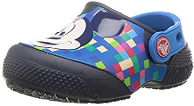 Crocs Unisex Kids Fun Lab Mickey Clog, Navy, C4