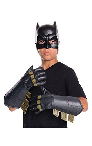Batman Adult Gloves (Rubie's Costume Batman V Superman: Dawn of Justice Batman Gauntlets)