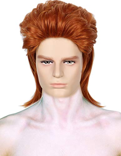 Codeven 70s Rocker Style Hair Wigs Halloween Costume Cosplay Wig]()