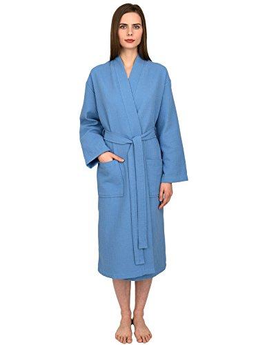 TowelSelections Turkish Waffle Bathrobe Kimono Spa Robe for Women and (Chenille Waffle)