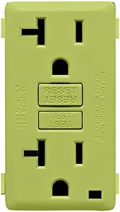 Leviton RKG20-GS Renu 20-Amp Tamper Resistant GFCI Color Change Kit, Granny Smith Apple