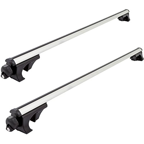 Rail Crossbars Roof (Apex RB-1001-49 Side Rail Mounted Aluminum Roof Cross Bars - Universal upto 50