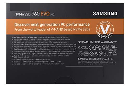 Samsung 960 EVO Series - 500GB NVMe - M.2 Internal SSD (MZ-V6E500BW) (Renewed) by Samsung (Image #5)