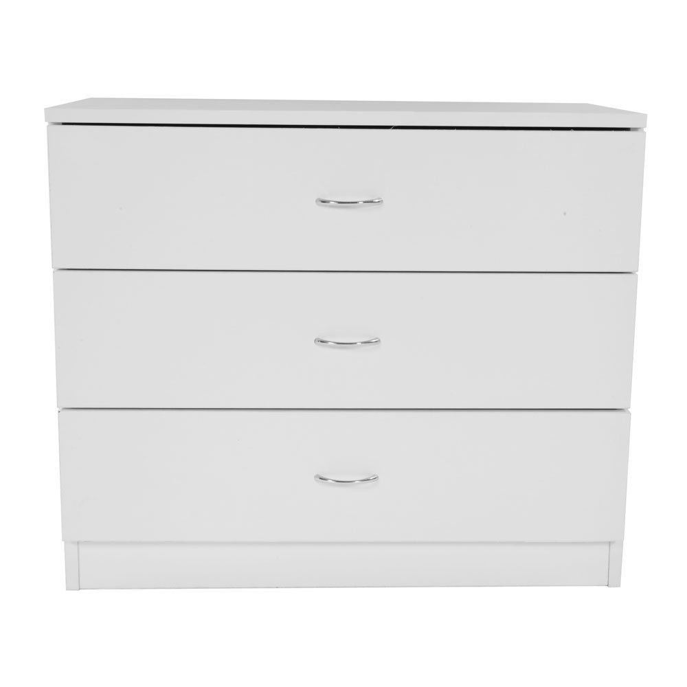 Moon Daughter 3 Storage Drawer Shelf Chest Nightstand Cabinet Bedroom White Cabinet Family Room, Bedroom, Living Room