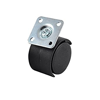 Placa eDealMax Silla de oficina giratoria de Metal Doble rueda ...