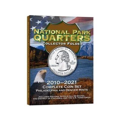 National Park Quarters Collectors Coin Folder 2010-2021 P&D by HE Harris: Toys & Games