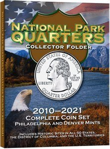 National Park Quarters Collectors Coin Folder 2010-2021 P&D by HE (Coin Collector Folders)