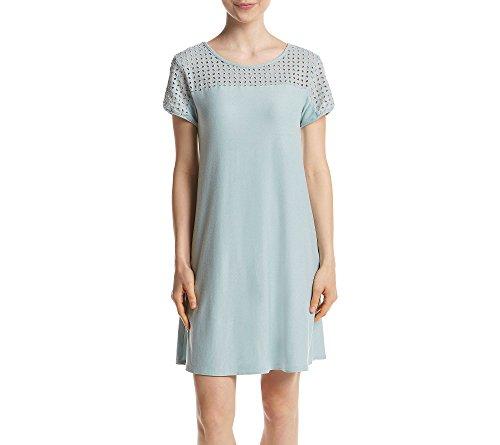 PINK ROSE Eyelet Top Jersey Dress Vintage Sage X-Small (Eyelet Rose Dress)