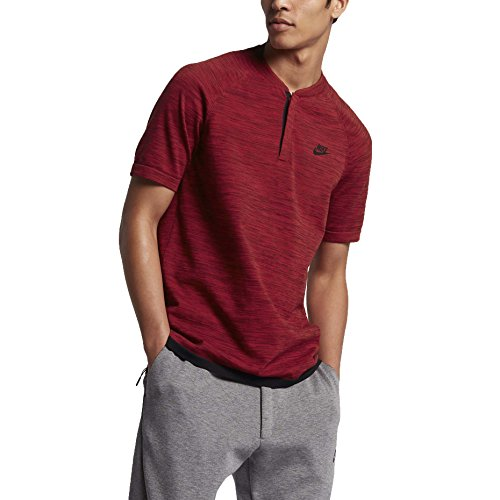 Nike M Nsw Tch Knt Ss Camiseta de Manga Corta, Hombre rojo (team red / university red / gym red / black)