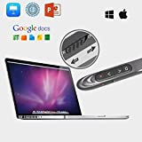 haelpu Wireless Presenter with Red Light, RF 2.4GHz Presentation Remote, 200Ft Wireless Range PowerPoint Clicker, Compatible PC Laptops Tablets - Metallic Coating