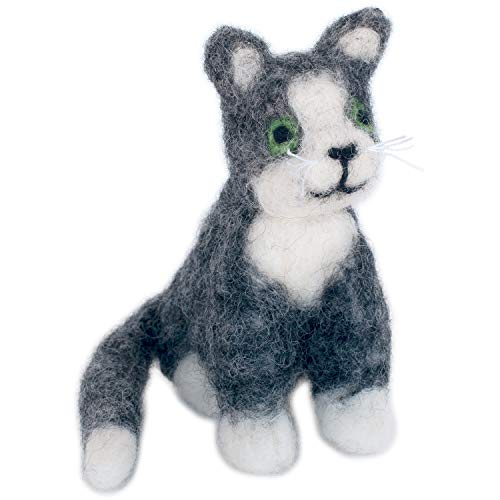 Dimensions Cat Felt Animals Needle Felting Kit, 3.5'' x 4''