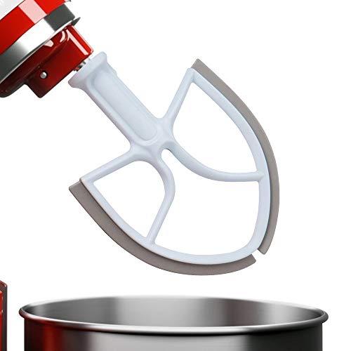 Romatpretty Flex-Edge-Beater,Paddle-Plastic-Flat-Mixer-Attachments with Silicone Edges for KitchenAid Mixer Bowl-Lift Stand Mixer Attachment for 5.5-6 Quart Bowls (Kitchen Aid Bowl Lift Stand Mixer)