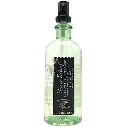 Bath and Body Works Aromatherapy Pillow Mist with Natural Essential Oils (Stress Relief, Eucalyptus + Spearmint) ()