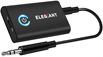 ELEGIANT Transmetteur Bluetooth 5.0 Récepteur et Émetteur 2-en-1 Adaptateur Bluetooth sans Fil Double Connexion Jack...