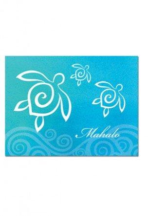 Honu Swirl Mahalo Cards 10-Pack]()