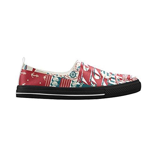 D-story Custom Anchor E Sneaker Da Uomo In Microfibra Slip-on In Gomma