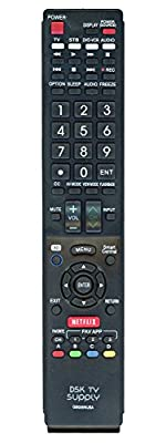 Replacement GB005WJSA Remote Control For Sharp LCD TV's Replaces Models GA890WJSA, GB004WJSA, GA935WJSA, GB105WJSA, GB118WJSA, GB172WJSA