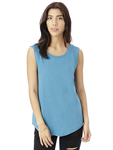 Alternative Women's Cap-Sleeve Crew, Peacock, Medium (Cap Sleeve Ladies Apparel)