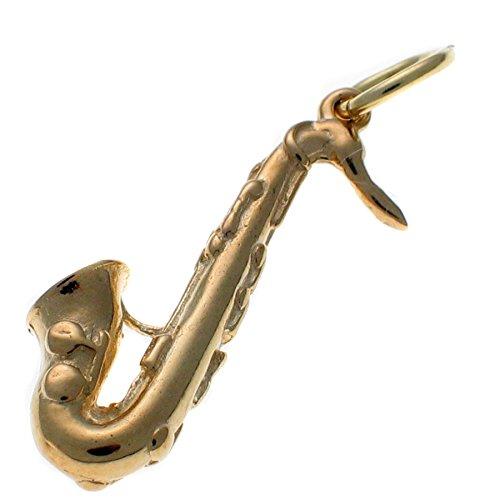Or 9carats Pendentif Breloque Saxophone wbc1608