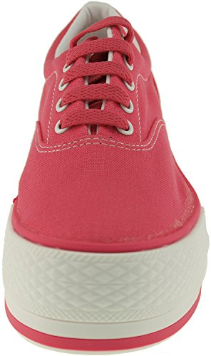 Canvas Simple Maxstar Sneakers Boat Red Low Shoes Platform Top w1v7gpvEq