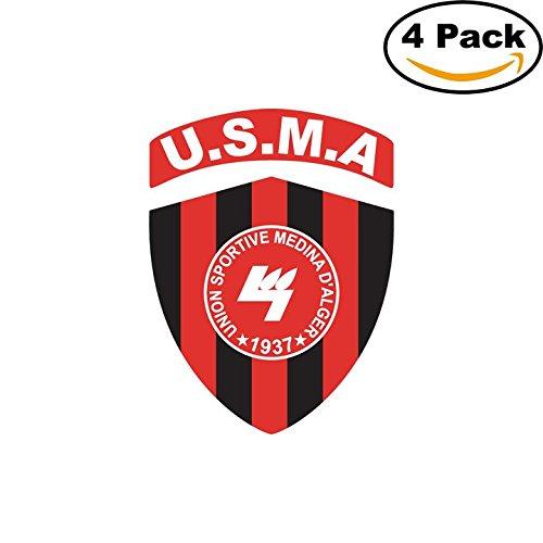 fan products of Union Sporive Medina d Alger Algeria Soccer Football Club FC 4 Stickers Car Bumper Window Sticker Decal 4X4