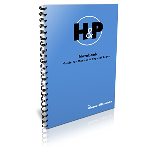 H&P Medical History and Physical Examination Daily Notebook, 100 templates, New Blue Cover