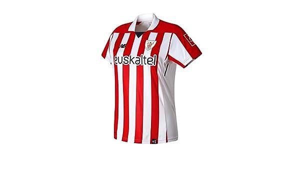 New Balance Camiseta AC Bilbao MC Primera Equipación Mujer 2017-2018 Blanco-Rojo Talla M: Amazon.es: Deportes y aire libre