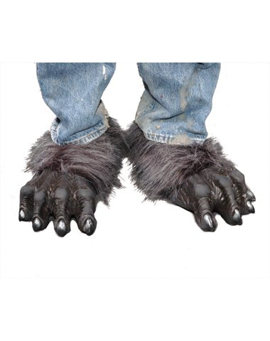 Wolf Feet, Grey Faux Fur