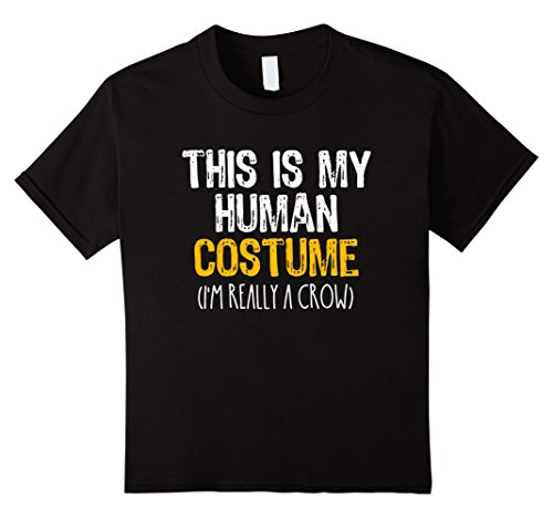 Kids This Is My Human Costume Crow Halloween Funny T-shirt 12 Black