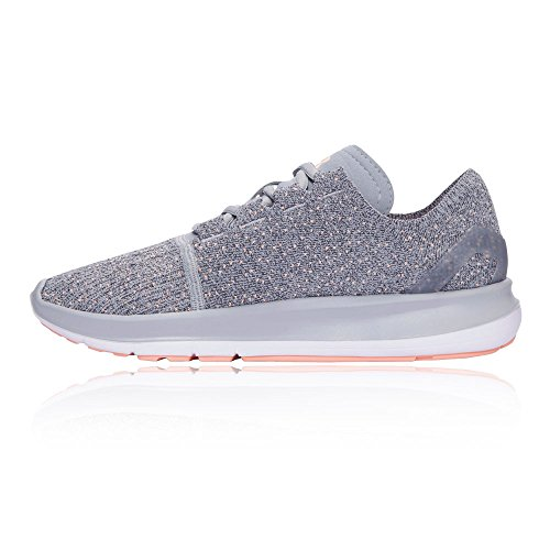 80%OFF Under Armour Women's UA Speedform Slingride TRI Overcast Gray/White/Playful Peach Athletic Shoe