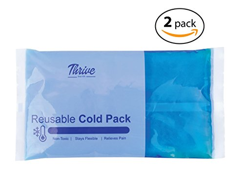 Reusable Gel Ice Cold Pack Compress – (2 Pack) – 5' x 9.5' - Reusable vinyl provides instant pain relief, rehabilitation and therapy from injuries like shoulder, back, knee, neck, ankle